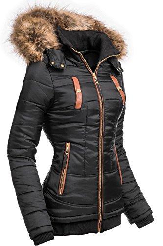 Sublevel damen jacke winterjacke kapuzenjacke 44308